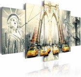 Schilderij - American metropolis