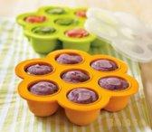 Babyvoeding bewaarbakjes | Bewaren moedermelk | Cupcake Cakevorm | Borstvoeding | BPA vrij | Siliconen diepvriesbakjes | Oranje