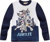 Ninja-Turtles-T-shirt-met-lange-mouw-marineblauw - Maat 134