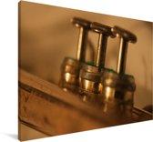 Close up van de trompetkleppen Canvas 90x60 cm - Foto print op Canvas schilderij (Wanddecoratie woonkamer / slaapkamer)