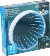 Grundig spiegel - 20 LEDS - D22x4cm