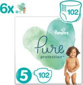 Pampers Pure Protection - Maat 5 - 11+kg - 6 x 17 Stuks - Luiers
