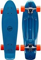 Nijdam Plastic Skateboard 28 Inch - Flipgrip-board - Blauw/Rood