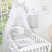 f09df66e7fc Bedset 3-Delig Little Prince/Princess Voile Grijs-Borduursel - Prince. My  Sweet Baby