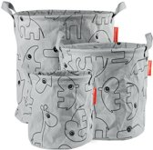 Done by Deer - Storage baskets, Contour, 3 pcs, grey