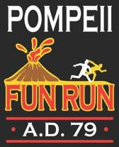 Pompeii Fun Run A.D. 79: Funny History Teacher Major Professor Composition Notebook 100 College Ruled Pages Journal Diary