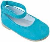 Käthe Kruse Poppenschoenentjes Blauw Voor Pop Van 41 Cm