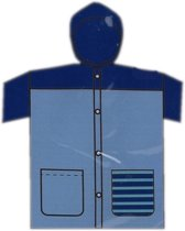 Free And Easy Kinderregenjas Junior Maat L Blauw/donkerblauw