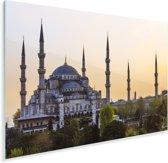 Zonsondergang in Istanbul Plexiglas 90x60 cm - Foto print op Glas (Plexiglas wanddecoratie)