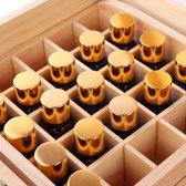2 Tier 56 fles etherische olie houten opbergdoos draagtas Container Organizer Display Box