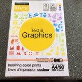 Rey Text and Graphics presentatiepapier formaat A4 90 g pak van 500 vel