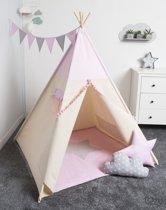 FUJL - Tipi Tent - Speeltent - Wigwam - kinder tipi -  Set Pink - Inclusief asseccoires