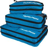 TravelMore Packing Cubes (3 stuks) – Pack Cubes - Koffer Organiser - Bagage Organizer - Bag In Bag - Travel Ordening - Blauw