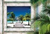 Fotobehang Beach Tropical View | XXL - 312cm x 219cm | 130g/m2 Vlies