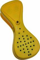 Praatknop in de leuke vorm van een wasknijper. (Talking PEG) - Geel