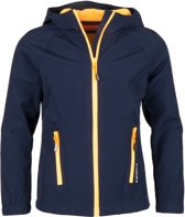 Icepeak Kensett Softshell  Outdoorjas - Maat 152 --CONVERTMeisjesKinderen - donker blauw/oranje