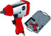 Einhell DSS 260/2 Slagmoersleutelset - Max. werkdruk: 6,3 bar - Max. losdraaimoment: 312 Nm - Inclusief 11 delige doppenset - Inclusief koffer