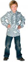 Rouches blouse  zilver voor jongens 140