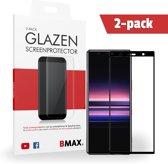 2-pack BMAX Glazen Screenprotector Sony Xperia 5  Full Cover Glas / Met volledige dekking / Beschermglas / Tempered Glass / Glasplaatje
