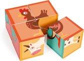 Scratch Build&Play: BLOKKENPUZZEL Boerderij met 4 blokken 12x12x6cm, in karton,