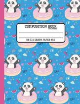 Composition Book Cute Panda 8.5 x 11 Graph Paper 4x4
