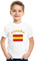 Kinder t-shirt vlag Espana Xs (110-116)
