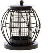 Silo Vogelvoederhuisje - Zwart - 11 cm x 11 cm x 14 cm - 3 stuks