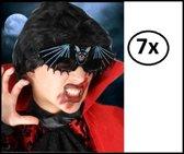 7x Vleermuis bril zwart