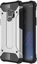 Samsung Galaxy S9 - Hybrid Tough Armor-Case Bescherm-Cover Hoes - Zilver
