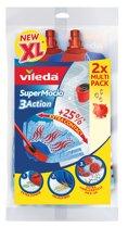 Vileda Vervanging SuperMocio 3 Action Multipack van 2 stuks