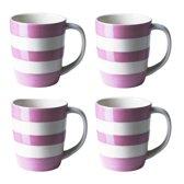 Cornishware Mugs Summer Rose Mugs 12oz/34cl (set van 4)