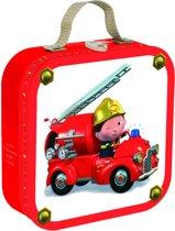 Janod Kofferpuzzel Leon's Brandweerwagen