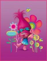 Trolls Poppy - Plaid - 110 x 140 cm - Roze
