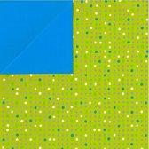 Toonbankrol.nl - Cadeaupapier op rol - Stip-Blauw 2-zijdig - Rol 30cm - 250m - 80gr