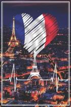 Paris Notes: Paris Notizbuch Planer Tagebuch Schreibheft (Punktraster / Dot Grid, 120 Seiten, 15,2 x 22.9 cm, 6'' x 9'') Geschenk F�r