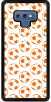 Galaxy Note 9 Hardcase hoesje Orange Soccer Balls