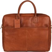 BURKELY VINTAGE MAX BIG WORKER 17,3'' - Laptoptas - Cognac