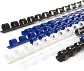 Kunststof bindring 6mm - blauw - 100 stuks