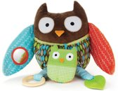 Hug and hide activity toy owl