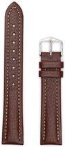 Hirsch Horlogeband -  Buffalo Bruin - Leer - 18mm