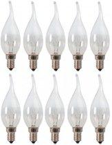 Calex Gloeilamp Tip Kaarslamp 10W E14 Helder (doos 10 stuks)