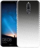 Huawei Mate 10 Lite Hoesje zwart witte cirkels
