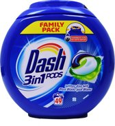 Dash 3in1 Pods Witter dan Wit - 49 Scoops - Wasmiddel Capsules
