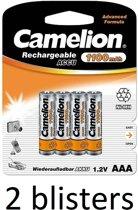 Camelion AAA oplaadbare batterij 1100mah - 8 stuks