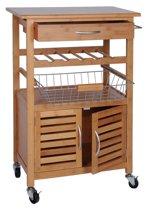 Excellent Houseware TakeTokio Bamboe Keukentrolley
