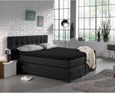 Home Care Jersey Topper - Hoeslaken - 160x200/220 - Zwart