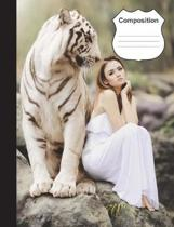 White Tiger Composition Notebook