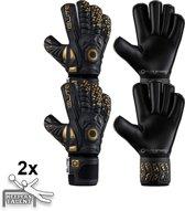 2 Paar Elite Black Real Keepershandschoenen - Maat 9