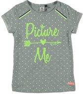 Retour Jeans Meisjes T-shirt - Grey melange - Maat 98
