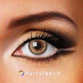 Kleurlenzen 'Brown Waves' jaarlenzen inclusief lenzendoosje | bruine contactlenzen Partylens®